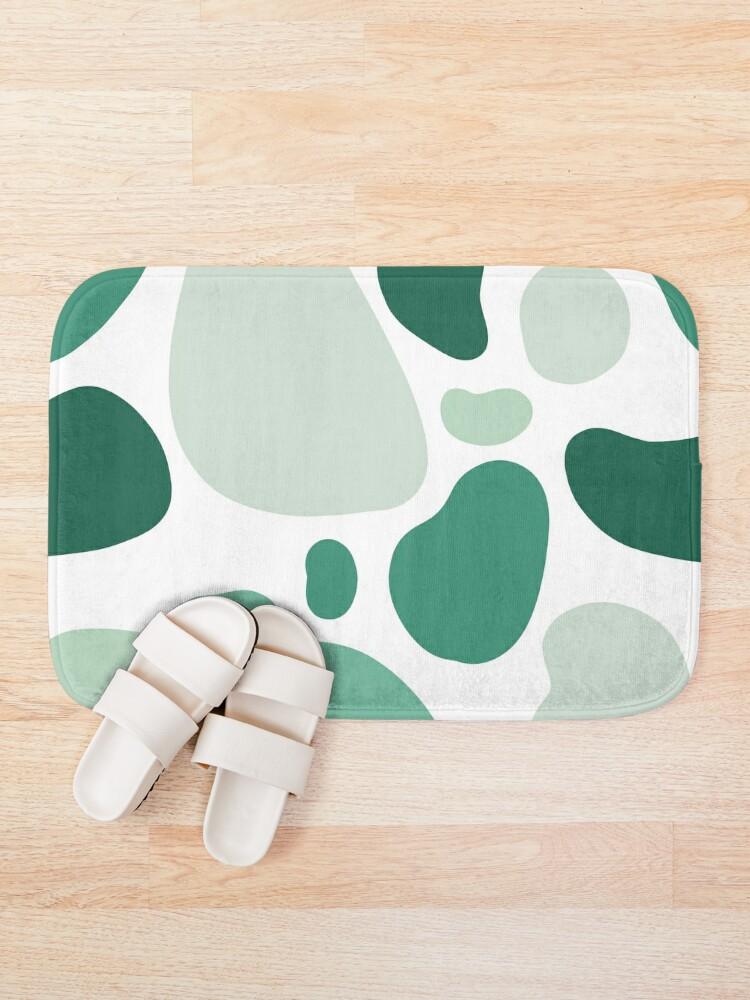 Alternate view of mint abstract  Bath Mat