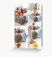 Variations on eggs Greeting Card