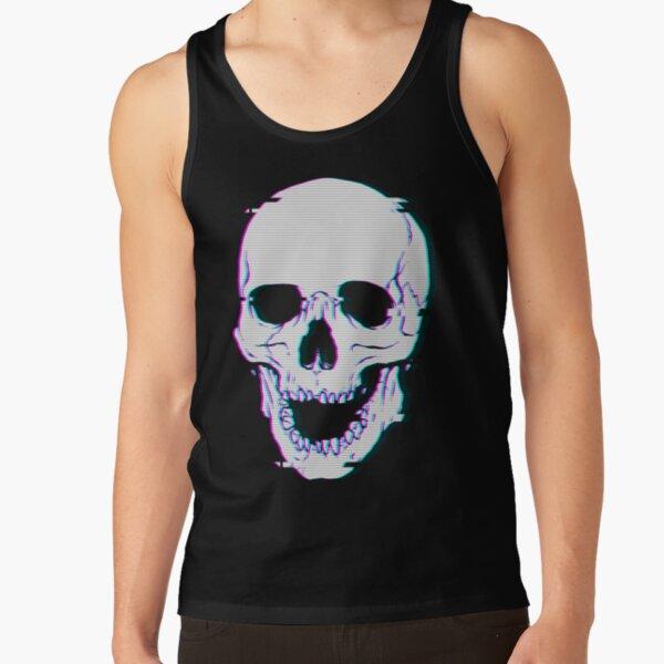 Glitch Skull Tank Top