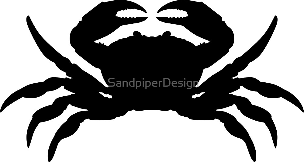 Quot Crab Silhouette Graphic Image Quot By Idrawsilhouettes On