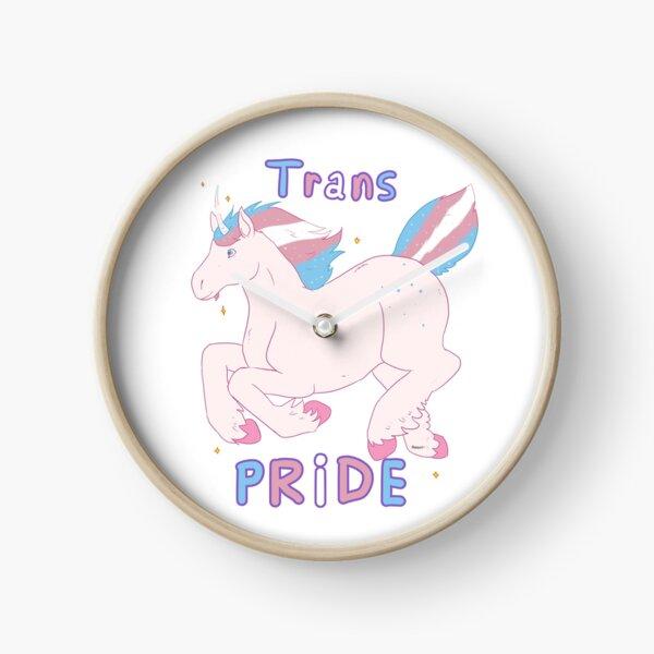 Licorne Trans Pride Horloge