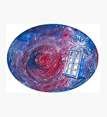 TARDIS in space 02 Photographic Print