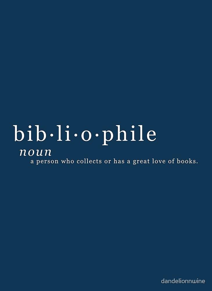 Bibliophile by dandelionnwine