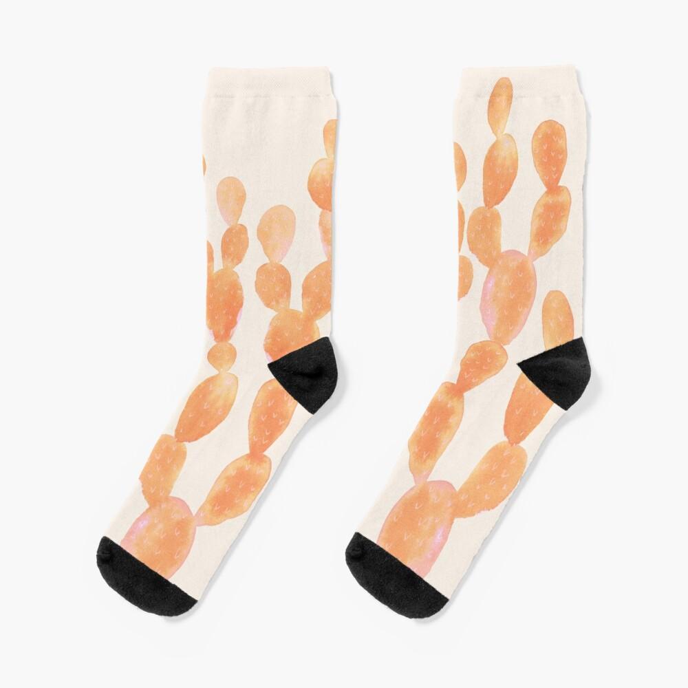 Orange Kaktus Socken