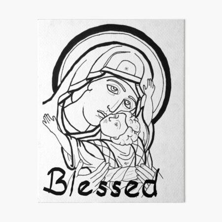 Theotokos snuggles Art Board Print