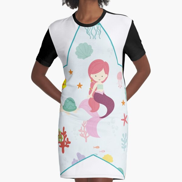 SMALL SIRENA IN STAR Graphic T-Shirt Dress