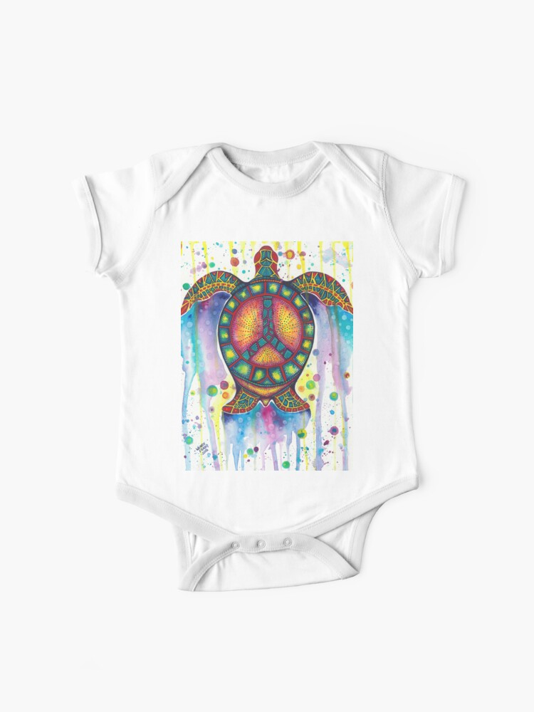 Toddler Kids Peace Sea Turtles Printed Long Sleeve 100/% Cotton Infants Clothes Love