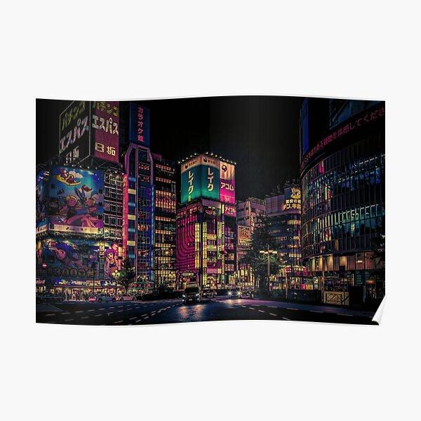 Futurism- Japan Night Photo Poster