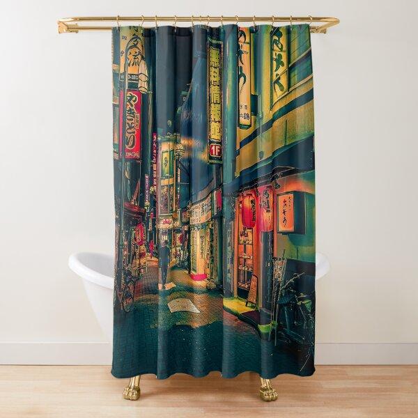 Suspiria- Japan Night Photo Shower Curtain