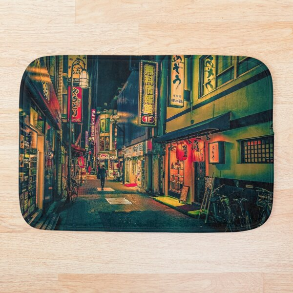 Suspiria- Japan Night Photo Bath Mat