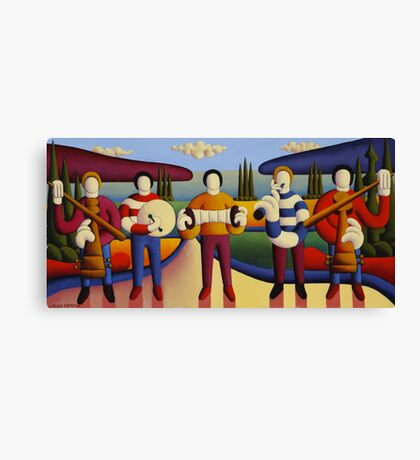 Five soft musicians Canvas Print