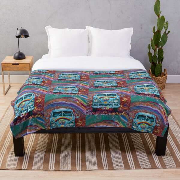 Groovy Bus Throw Blanket