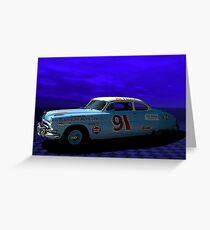 "1952 Hudson Hornet-Tribute ""Race Car"" Greeting Card"