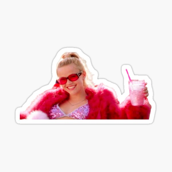 Pink Elle Woods Legally Blonde Sticker !  Sticker