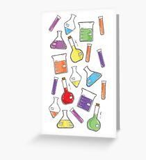 ceLABORATORY glassware Greeting Card