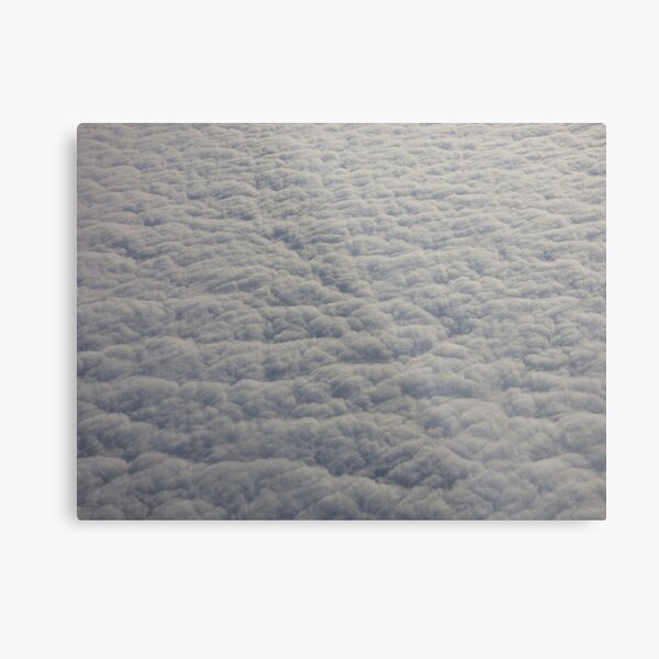 Clouds from an Airplane Metal Print