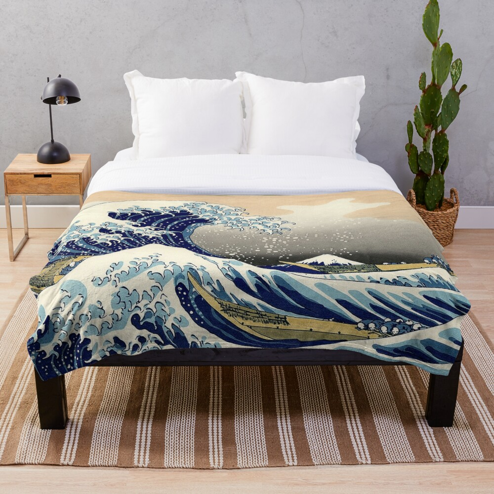 THE BIG WAVE  Throw Blanket
