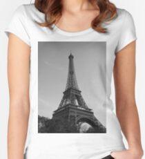 Eiffel Tower Black & White (Paris) Women's Fitted Scoop T-Shirt