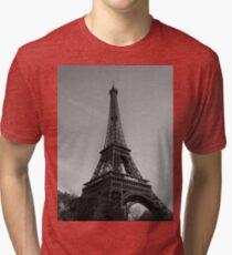 Eiffel Tower Black & White (Paris) Tri-blend T-Shirt