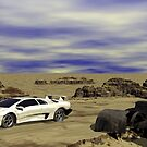 A Lambo in a Dessert Tableleux by Sazzart