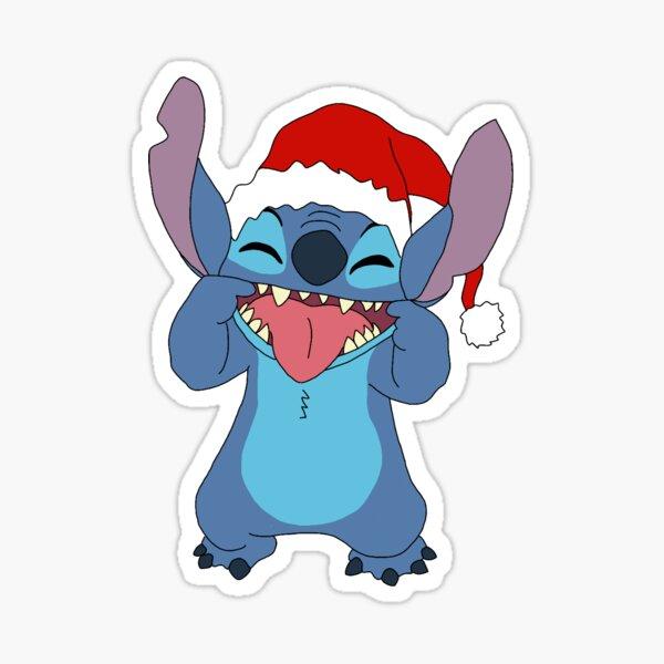Santa Stitch Pegatina