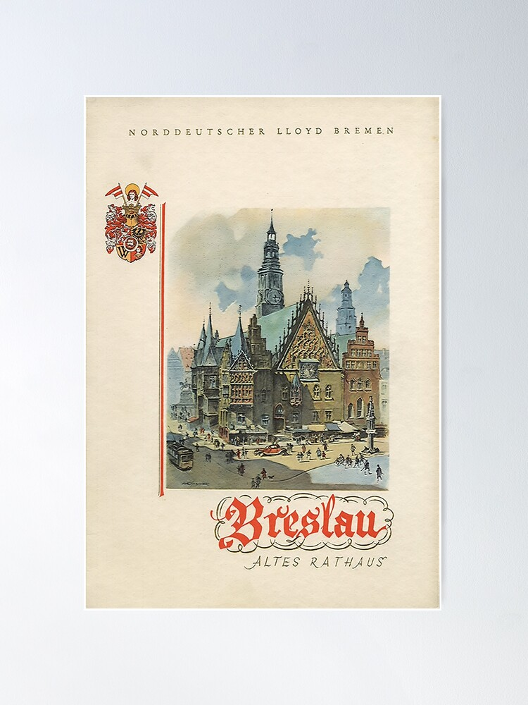 Alternate view of Breslau, Germany: Old City Hall Poster