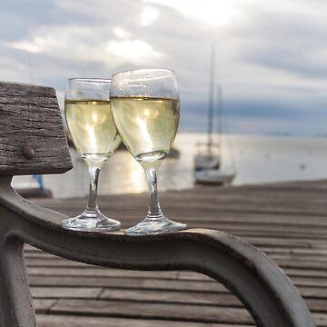 Wine and Sunset by MathieuLongvert