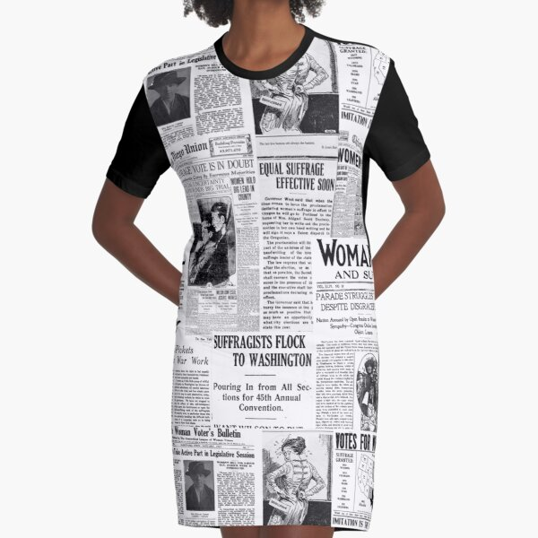 MAKING AMERICA GREAT - WOMEN'S SUFFRAGE Graphic T-Shirt Dress