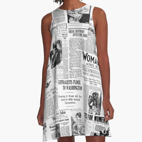 MAKING AMERICA GREAT - WOMEN'S SUFFRAGE A-Line Dress