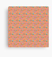 Robots Orange Canvas Print