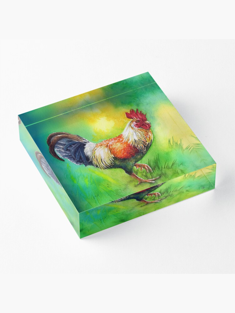 Alternate view of Rooster Strut Acrylic Block