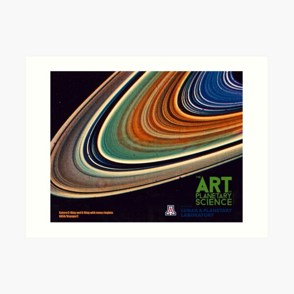 Saturn C-Ring and B-Ring and many ringlets. Art Print