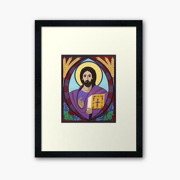 Icon of Christ Pantokrator Framed Art Print