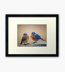 Grumpy Little Men Framed Print