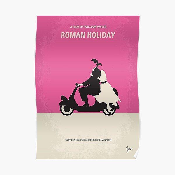 No205- Roman Holiday minimal movie poster   Poster
