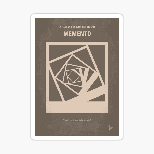 No243- Memento minimal movie poster     Sticker