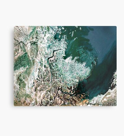 """Northern Estuary""  Metal Print"