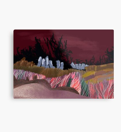 """Dawn Travelers""  Metal Print"