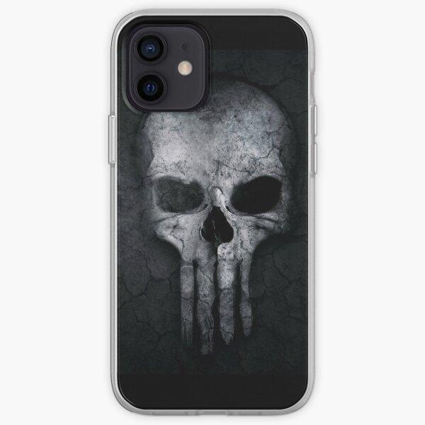 Gray Skull  iPhone Soft Case