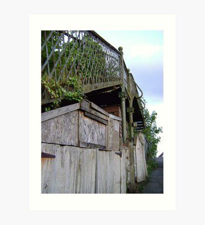 bridge over a.. shed? Art Print