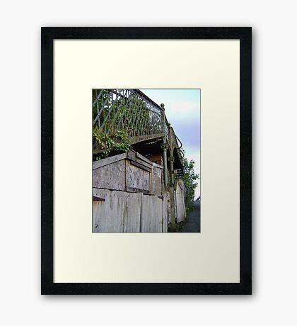 bridge over a.. shed? Framed Print