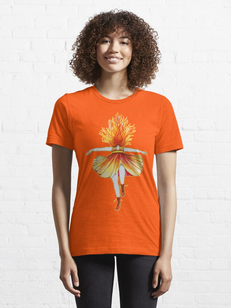 Alternate view of Girl on fire by Studinano Essential T-Shirt