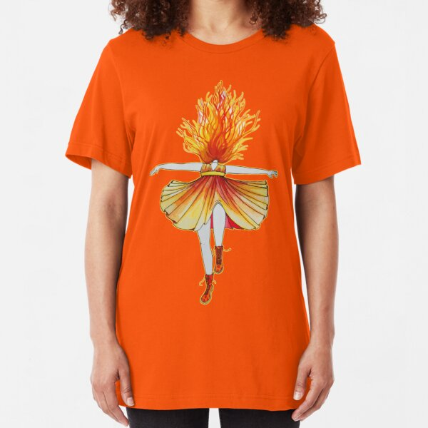 Girl on fire by Studinano Slim Fit T-Shirt