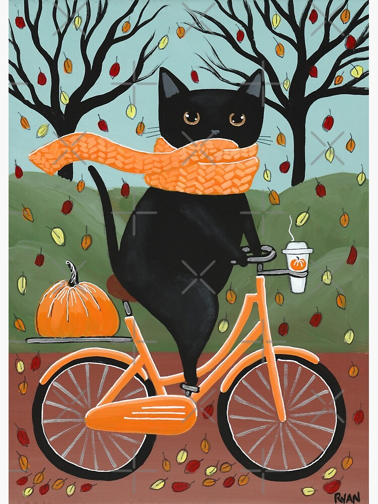 Black Cat Autumn Bicycle Ride by kilkennycat