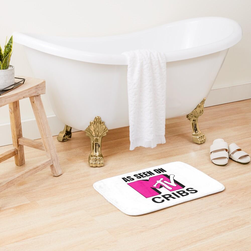 As Seen On MTV Cribs Pink Logo Bath Mat