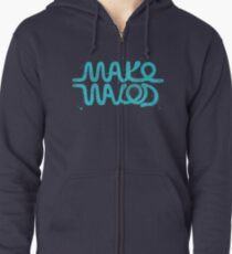 Make Waves Zipped Hoodie