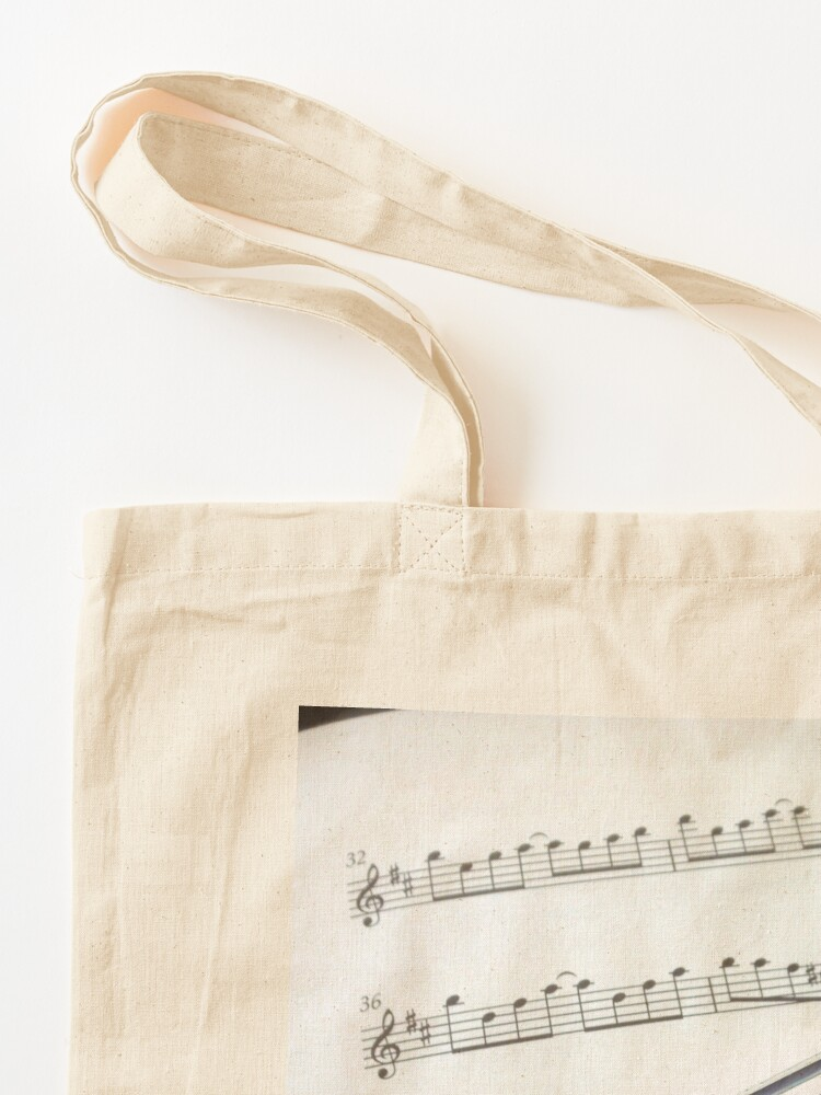 Alternate view of Pause for Breath - Flute and Sheet Music Tote Bag