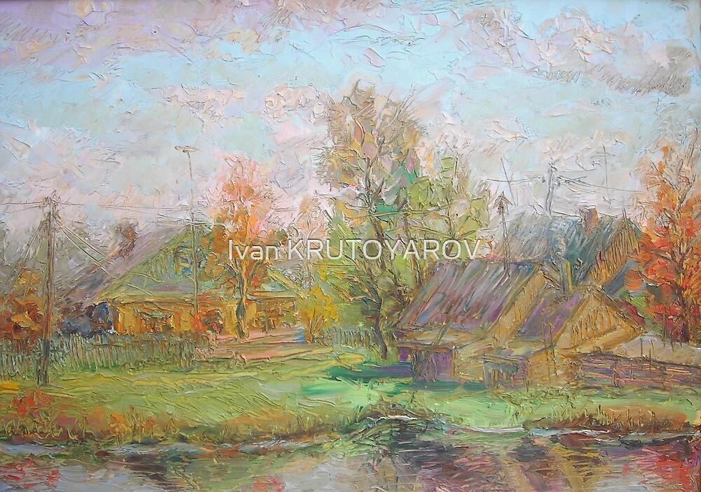 My Village / 1988 / oil on cardboard by Ivan KRUTOYAROV