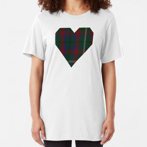 00341 Mayo County District Tartan Slim Fit T-Shirt