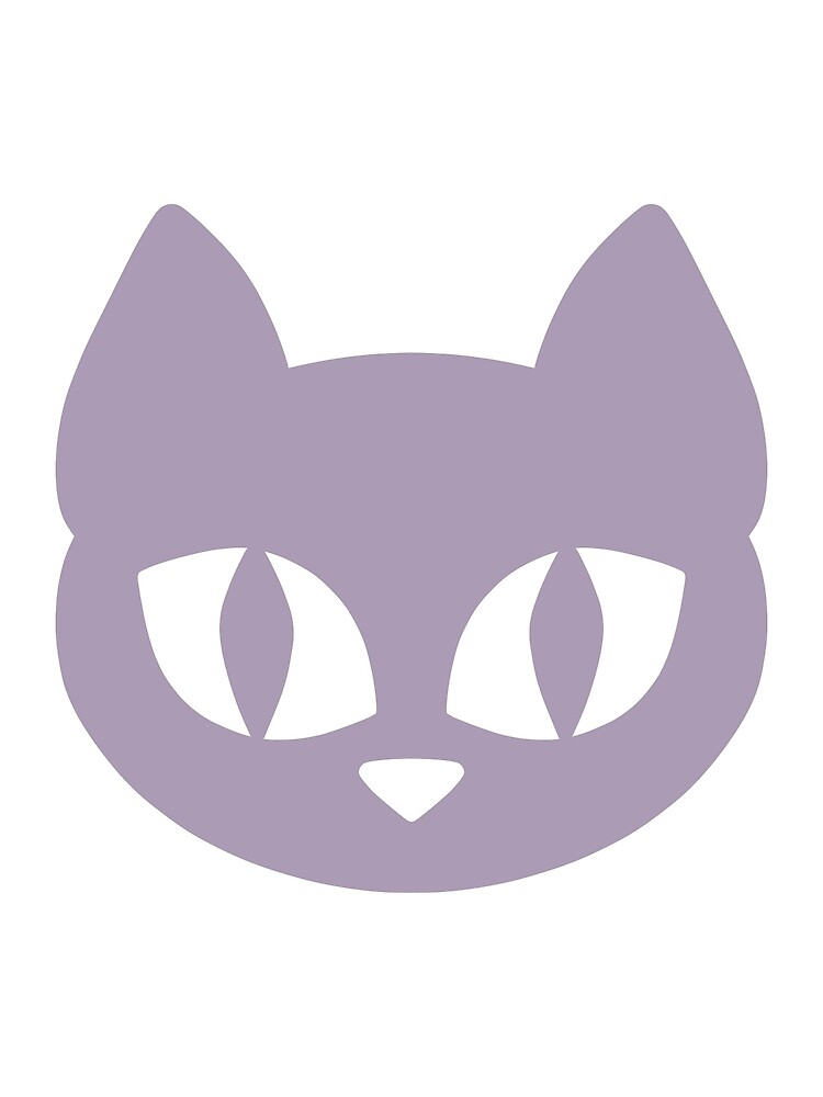 Purple Cat Head by DeliriumLina